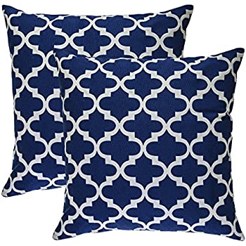 Amazoncom Pack of 2 CaliTime Throw Pillow Covers 18 X 18 Inches