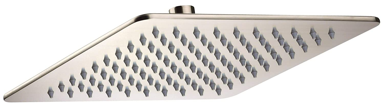 "70%OFF Danze D460073BN Drench Square Rain Showerhead, 10"", Brushed Nickel"