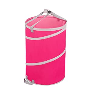 TTLike 30 Gallons Reusable Yard Waste Bag Gardening Lawn Leaf Bags by Collapsible Canvas Garden Bag(Pink)