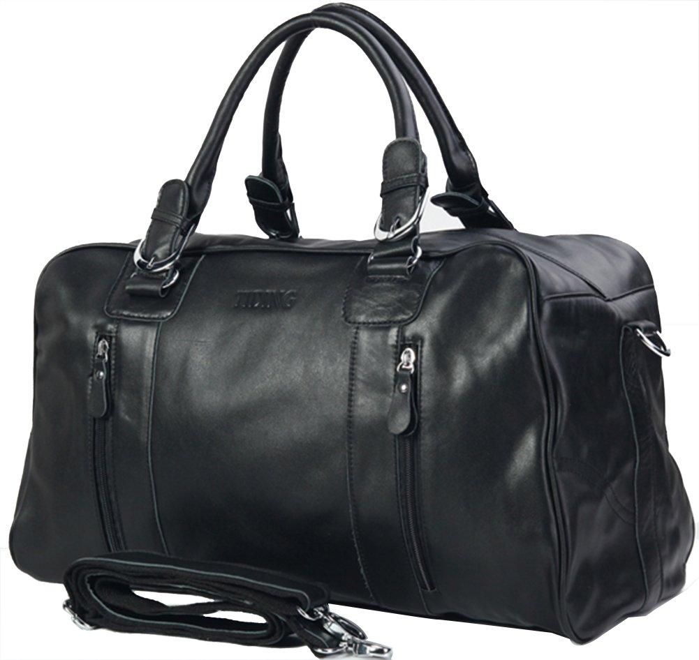 Genda 2Archer Vintage Leather Tote Bag Casual Weekender Bag Travel Bag for Men and