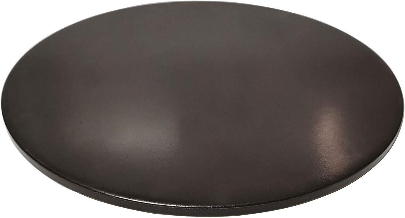 Pizzastein f/ür Ofen Grill schwarz glasiert BBQ Backstein rund Keramik antiflecken Brotpfanne 11.5 inch Schwarz