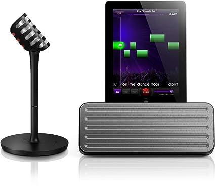 Philips AEA7100/17 StarMaker Wireless Bluetooth Portable Speaker &amp; Wireless Karaoke Mic for iPad <span at amazon