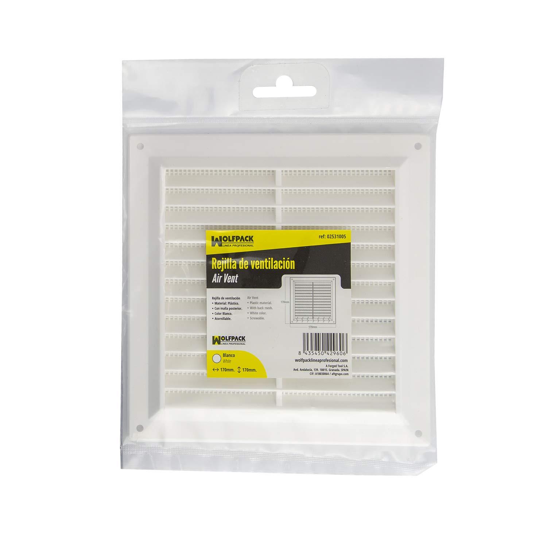 Rejilla Plastico Sobreponer Con Malla Posterior 17x17 Cm.