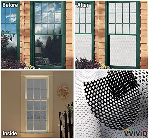 VViViD White Perforated Vinyl Window Film to Prevent Bird Strike 54 inches x 300 inches