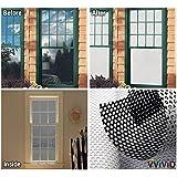 "VViViD White Perforated Vinyl Window Film to Prevent Bird Strike (17.9"" x 54"")"