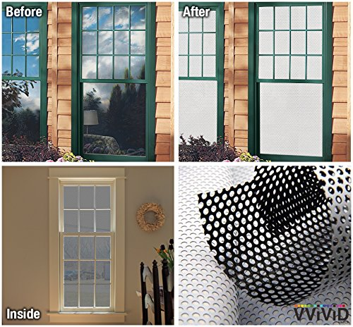 VViViD White Perforated Vinyl Window Film to Prevent Bird Strike (54 inches x 120 inches Bulk Roll) by VViViD