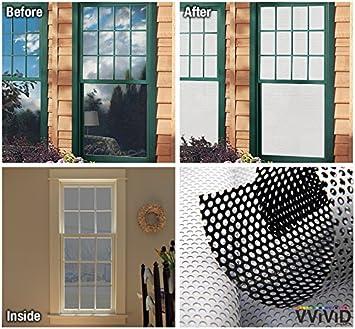 VViViD White Perforated Vinyl Window Film To Prevent Bird Strike - Window alert hummingbird decals amazon