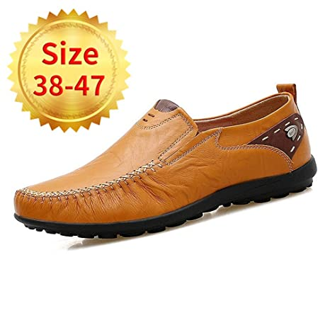YAN Calzado de Confort para Hombres Primavera/otoño Mocasines británicos y Zapatillas sin Cordones Boda