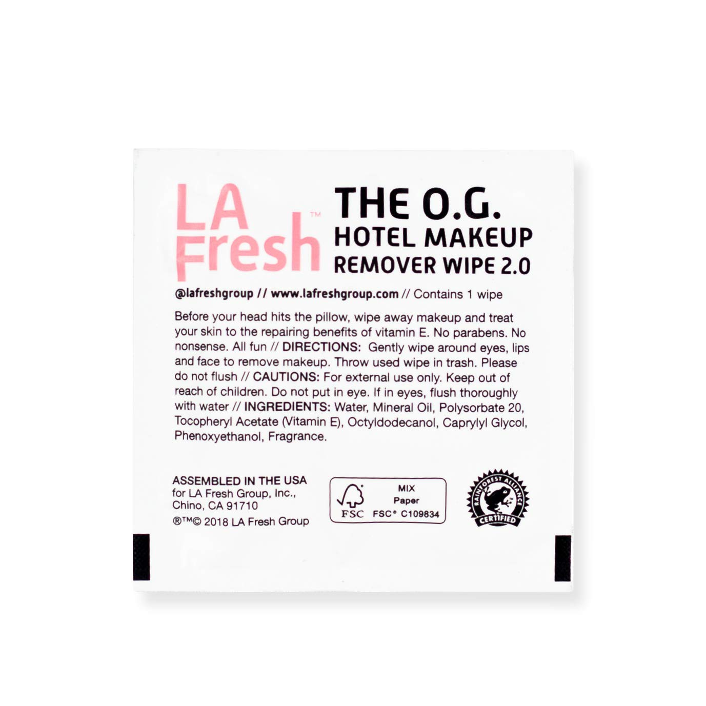La Fresh Travel Lite Makeup Remover Cleansing Travel Wipes - Natural, Biodegradable, Waterproof, Facial Towelettes With Vitamin E - Individually Wrapped & Sealed (Pack of 200) by La Fresh (Image #4)