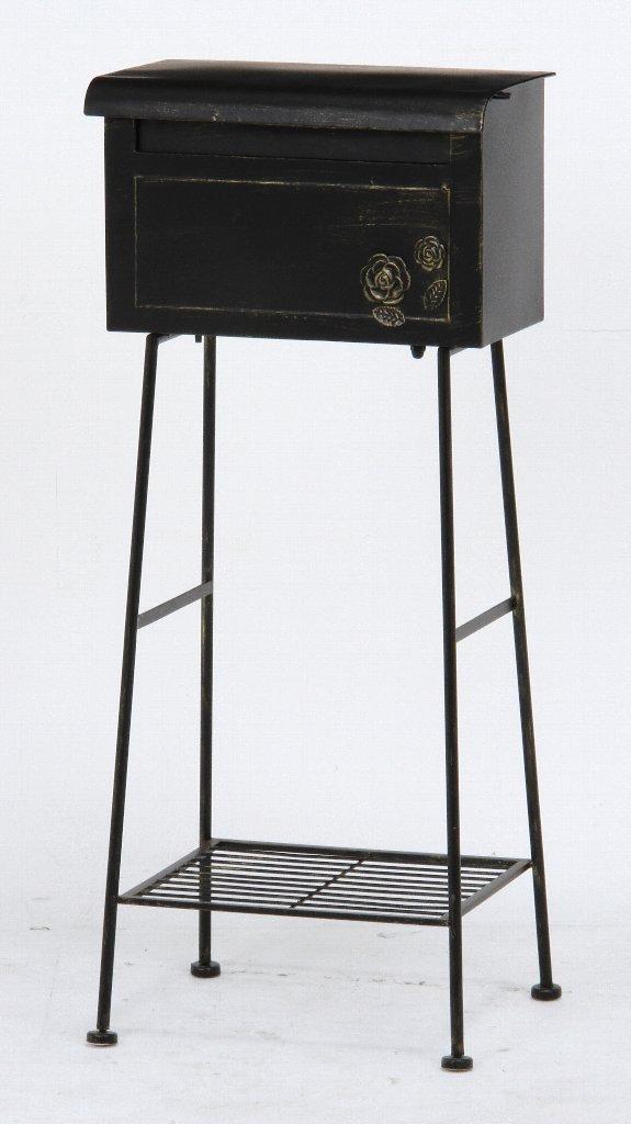 スタンドポスト ガーデンポスト ローズ ブラック 横型 35500 スタンド式ポスト 送料無料 B072JJTZJZ 10500