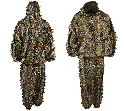 LYGLO Mens 3D Lightweight Hooded Camouflage Ghillie Breathable Hunting - Hunting Lightweight Pants