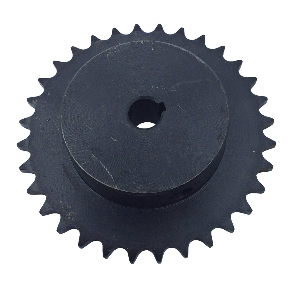KOVPT # 40 Roller Chain Sprocket 10 Teeth Bore 0.5 Pitch 0.5 Inches Black 1pcs