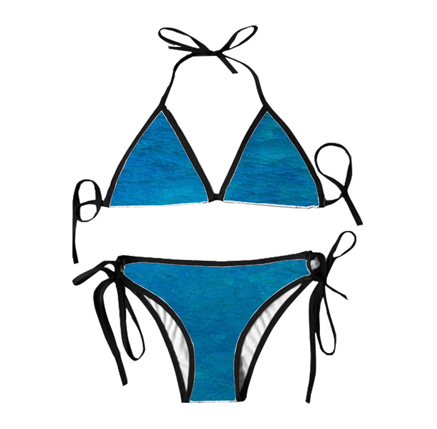 29a1f0f676 Amazon.com: Womens Bikini Set Sexy Thong Triangle Top Set Swimsuit Beach  Adorable Animal Animal Portrait Swimwear Solid for Women: Clothing