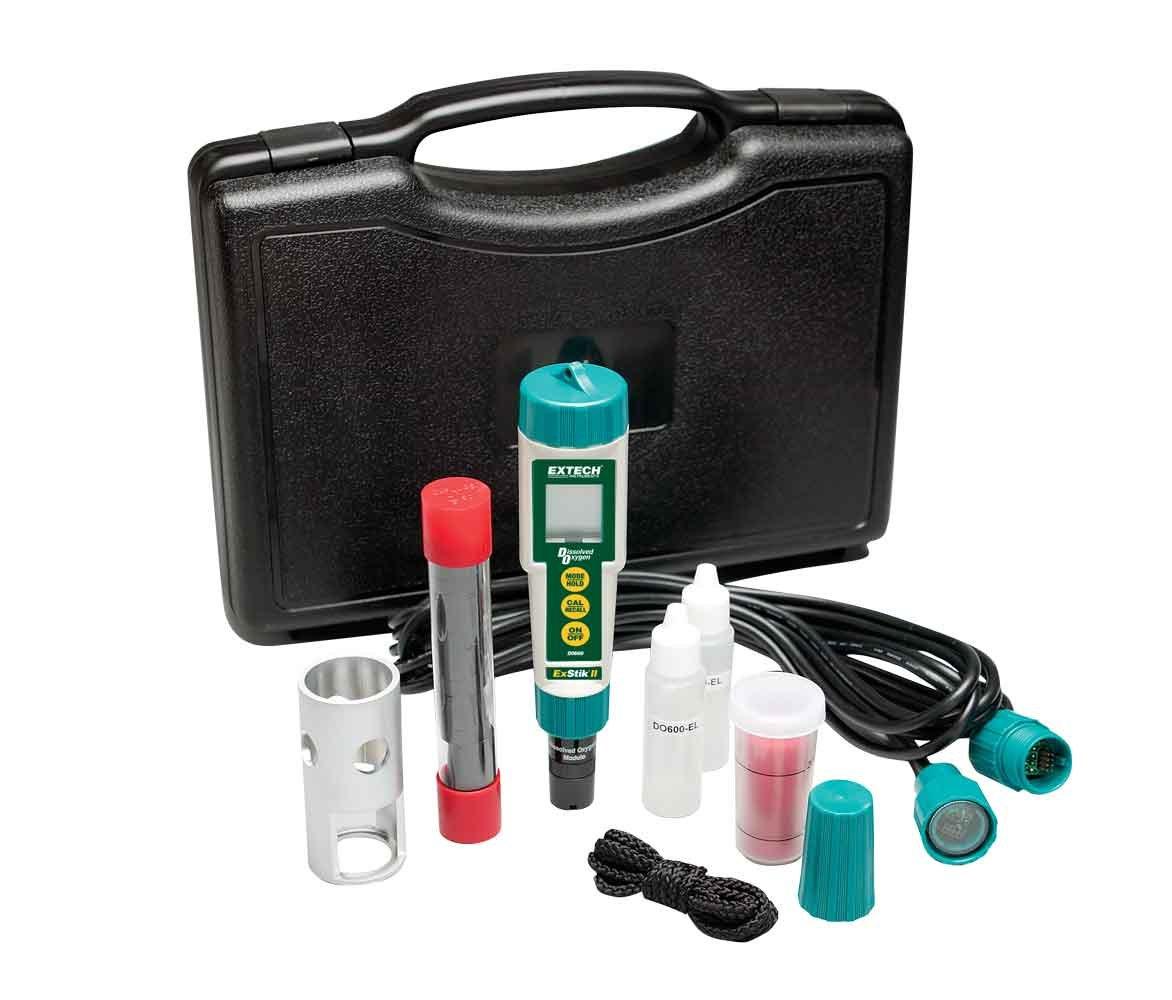 Juego de medidor de oxígeno disuelto a prueba de agua Extech DO600-K