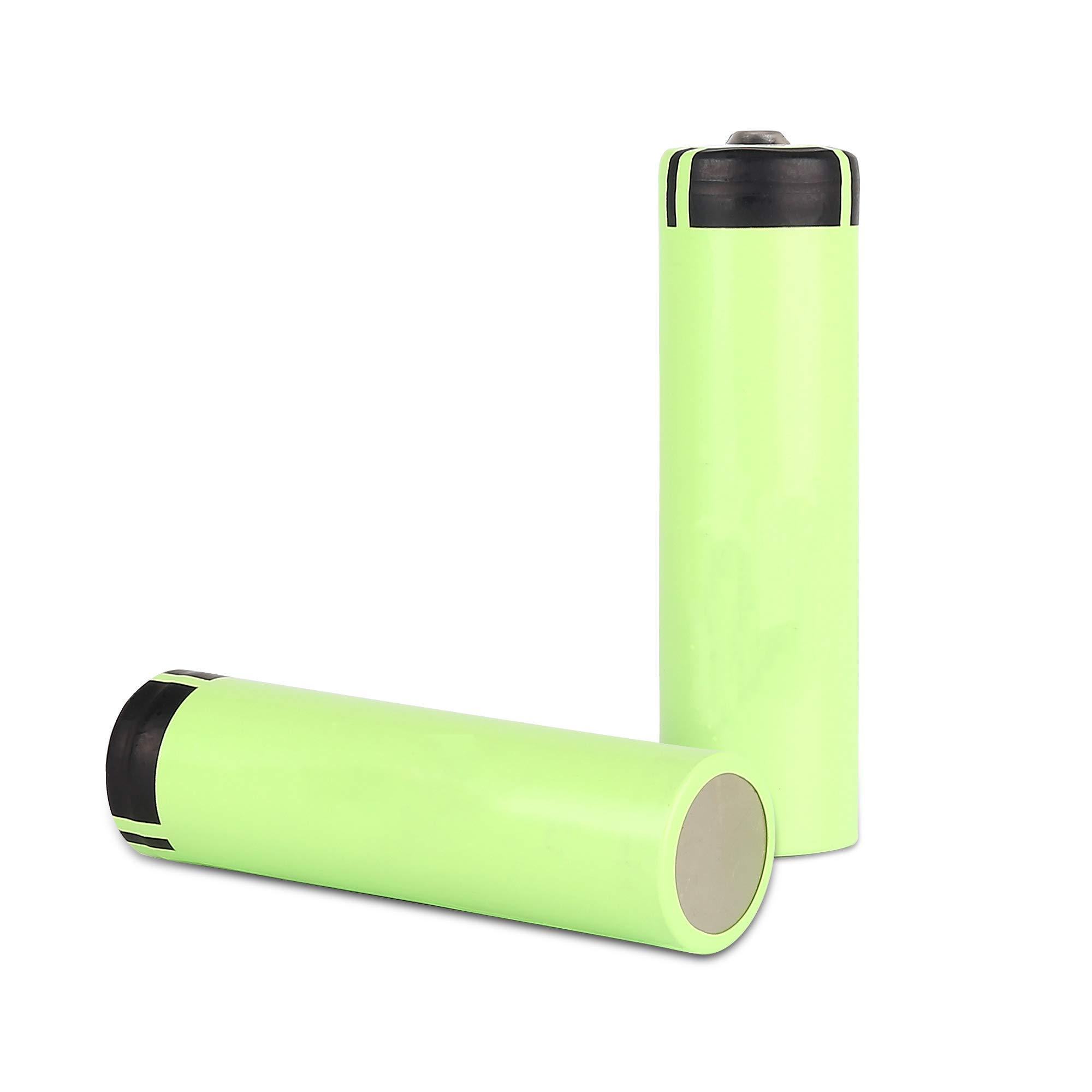 liogea 3.7V Battery 3400mAh 20A Rechargeable Button Top Batteries - 2 Pack by liogea