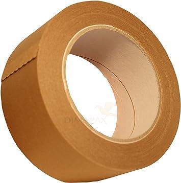 6 Rollen Packband 50mmx50m PAPIER Paketklebeband Klebeband Verpackungsklebeband