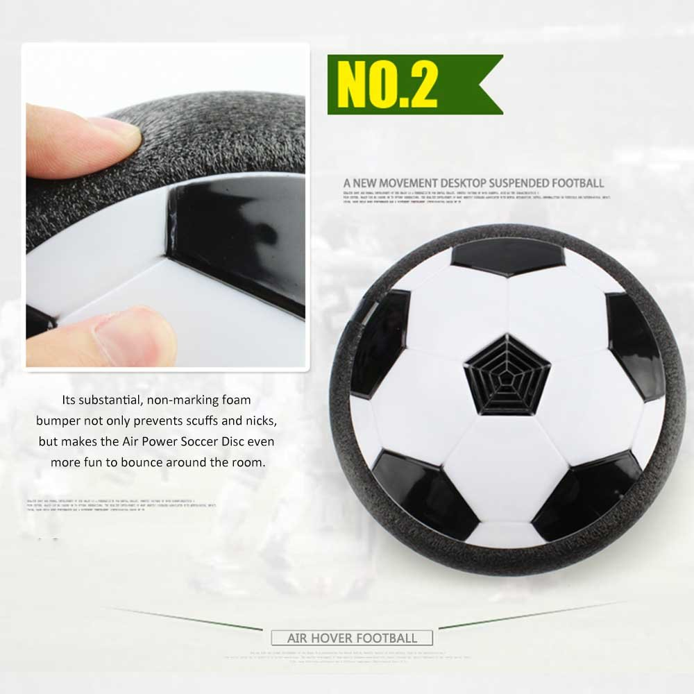 LED lumi/ère clignotant balle air puissance soccer Funny Toy Chidren cadeau Gosaer Football Int/érieur Musique air Hover ball