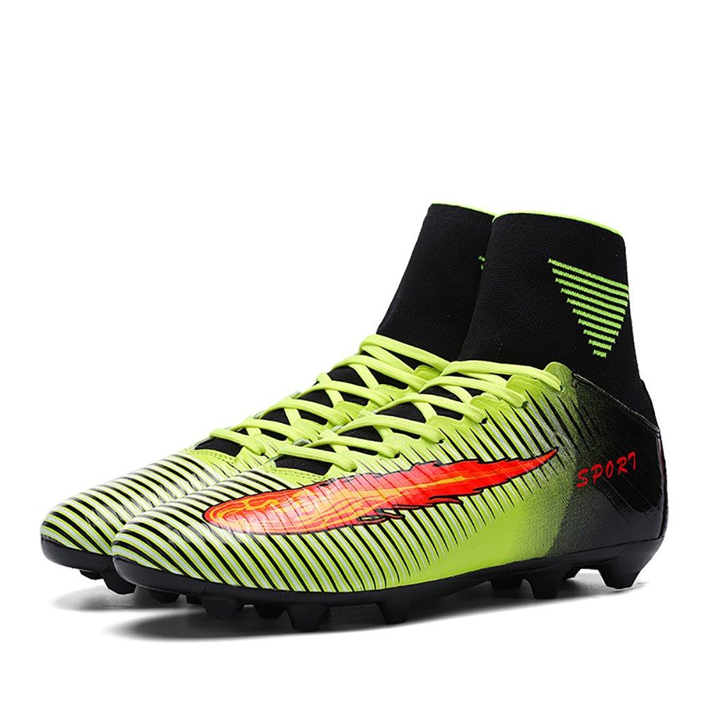 ASHION Zapatillas de F/útbol Unisex Ni/ños FG High-Top Botas de F/útbol