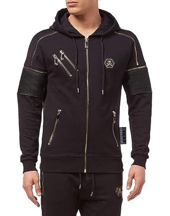 7d6f2ea68a482a Philipp Plein Hoodie Sweatshirt Feeling: Amazon.co.uk: Clothing