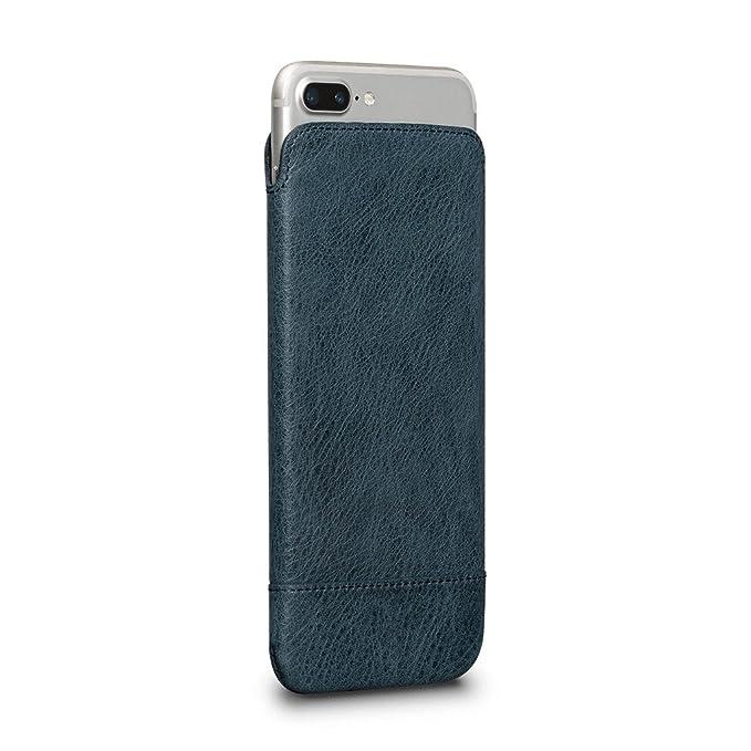 timeless design 9ed75 1dbb0 Heritage UltraSlim Leather Sleeve for iPhone 8 Plus / 7 Plus / 6s Plus / 6  Plus (Denim)