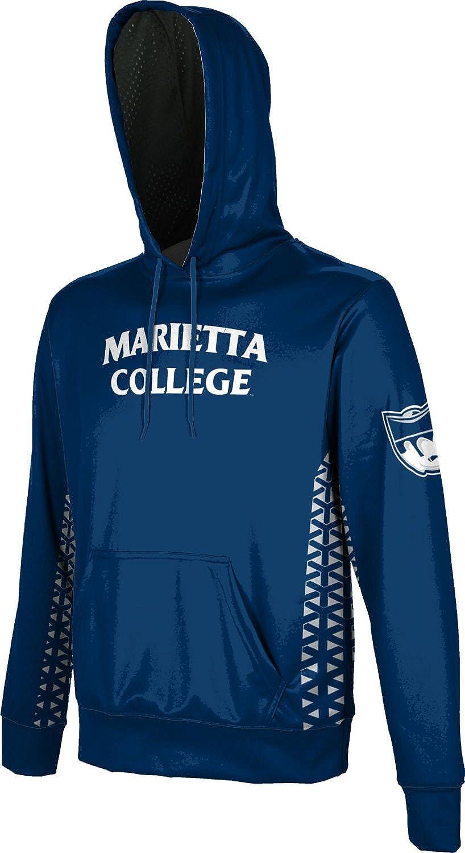 School Spirit Sweatshirt Geo ProSphere Marietta College Mens Pullover Hoodie