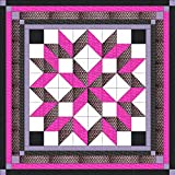 Easy Quilt Kit Carpenters Wheel/ Pink/Black/Silver Exped Ship/Queen