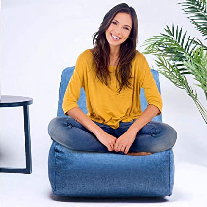 Astounding Beiz Penz Foam Lounger Bean Bag Chair Floor Chair Couch Lazy Lounger Huge Memory Foam Furniture Bag And Large Lounger Big Sofa With Soft Fiber Unemploymentrelief Wooden Chair Designs For Living Room Unemploymentrelieforg