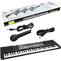 Digital Keyboard, 61 Keys Portable Electronic Organ Children Digital Keyboard with Microphone Music