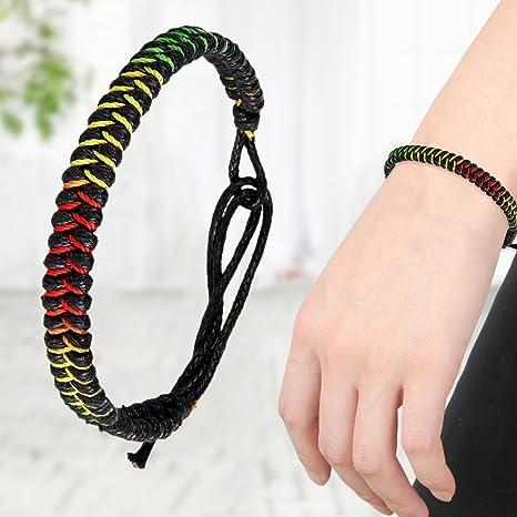 Tibetan Buddhist Handmade Knots Lucky Rope Bracelet Rope Chain  Adjustable Size