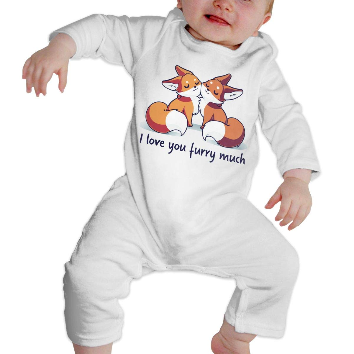 I Love You Furry Much Newborn Baby Boy Girl Romper Jumpsuit Long Sleeve Bodysuit Overalls Outfits Clothes