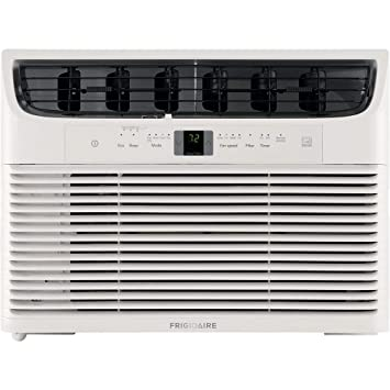 Frigidaire FFRE153WAE Energy Star 15,000 BTU 115V Window-Mounted Median Air Conditioner with Full-Function Remote Control, White