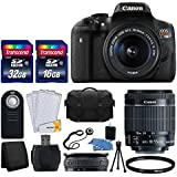 Canon EOS Rebel T6i 24.2 MP EF-S DSLR Camera + Canon EF-S 18-55mm f/3.5-5.6 STM Zoom Lens + Large Gadget Bag+ Wireless Remote + USB Card Reader + 58mm UV Filter + 48GB Memory Card + Ultimate Bundle