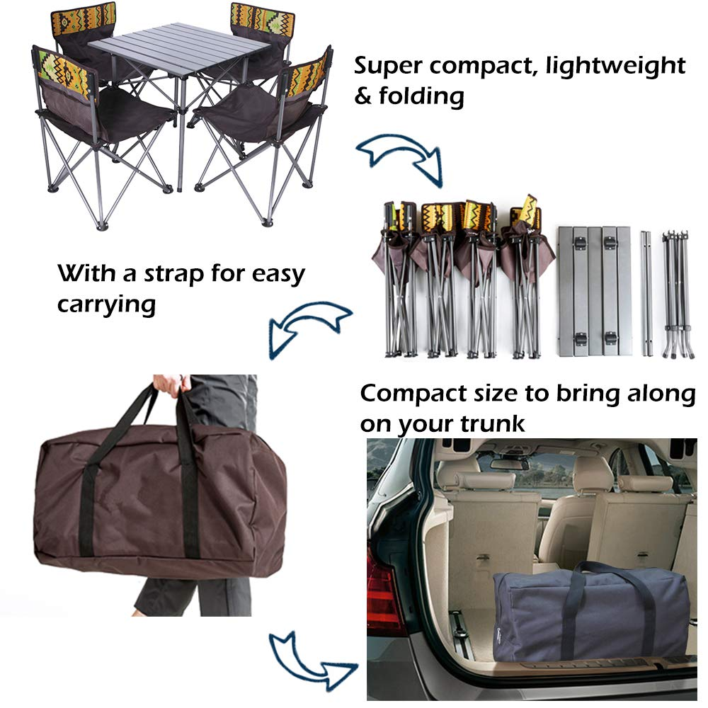 Kalwason Baby Kids Camping Chairs and Table – Lightweight Portable Folding Chairs with a Carry Bag for Family Camping Trip, Beach, Backpacking & Picnic, 16lbs Weight by Kalwason (Image #3)