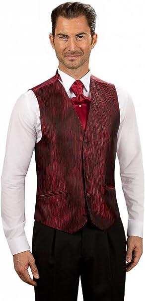 Chaleco para hombre, diseño de rayas, color rojo Burdeos para ...