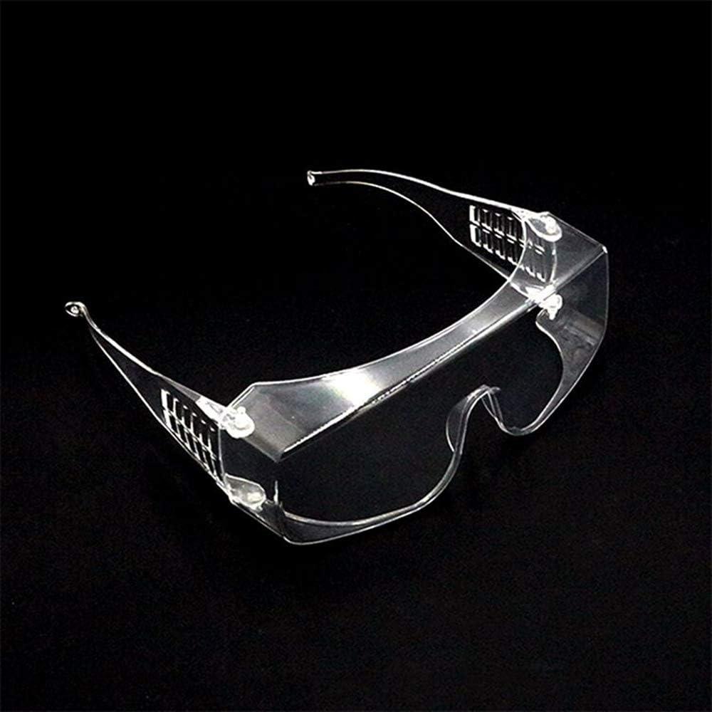 Kajiali Anteojos Gafas de Seguridad, Ropa de protección para los Ojos de Trabajo, Gafas Transparentes Antipolvo, antivaho, Respirables, miopía