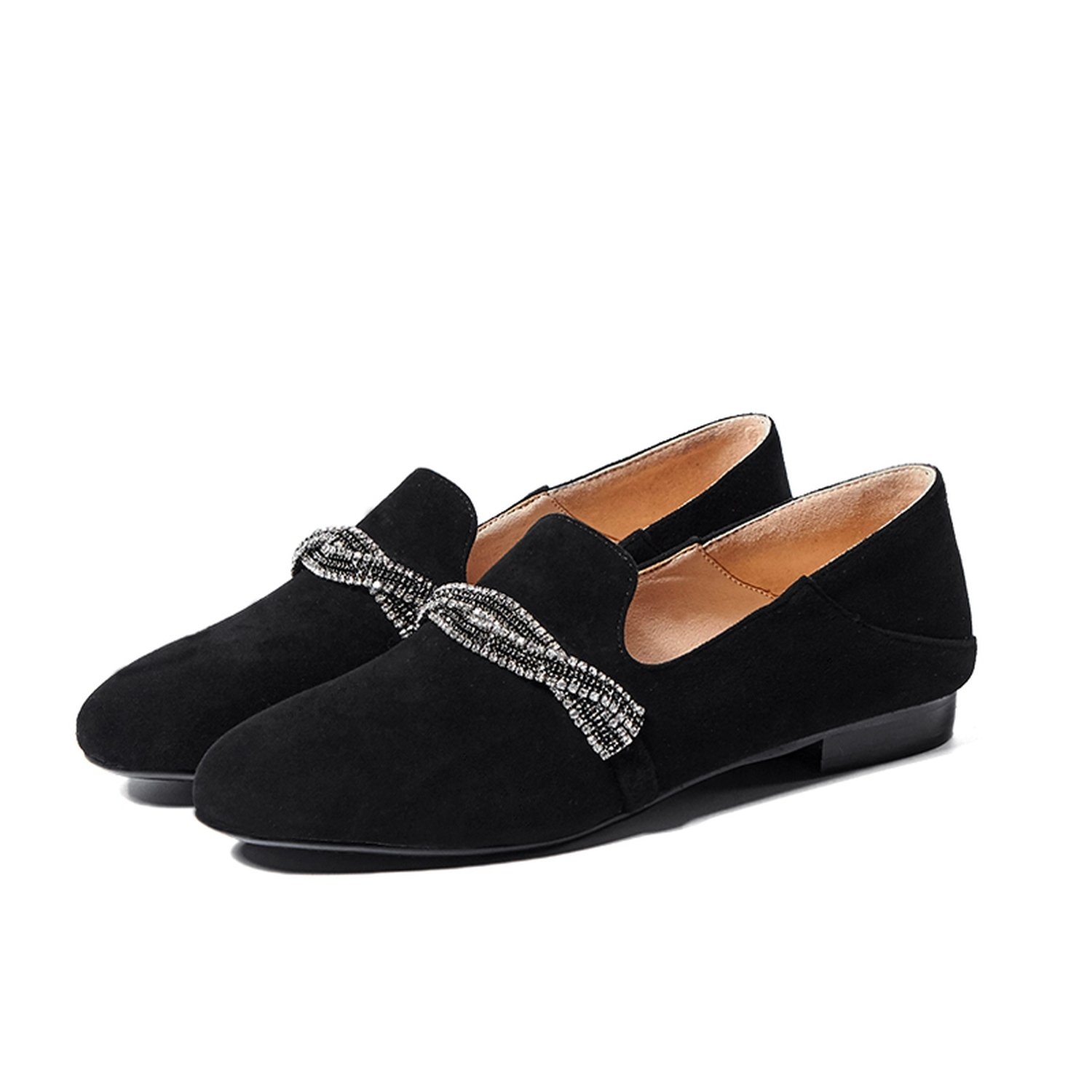 Zcaosma Women Flat Shoes Real Suede Leather Loafer Shoes Woman Spring Autumn Casual Footwear Slip On