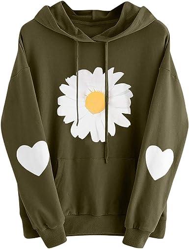 Fudule Women Sweatshirts and Hoodies,Womens Letter Print Pullover Tunic Tops Long Sleeve Drawstring Jumper Sweatshirt