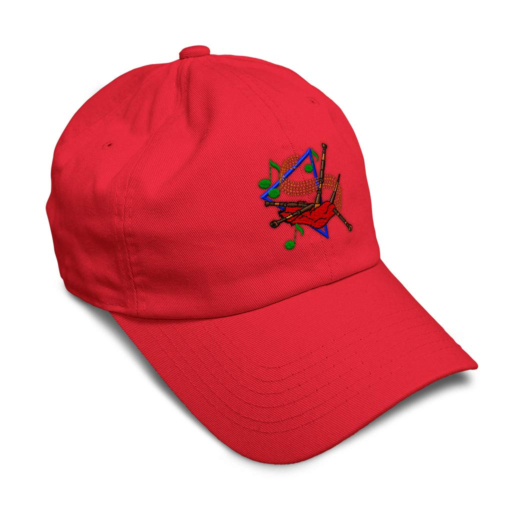 Custom Soft Baseball Cap Bagpipes Embroidery Dad Hats for Men /& Women