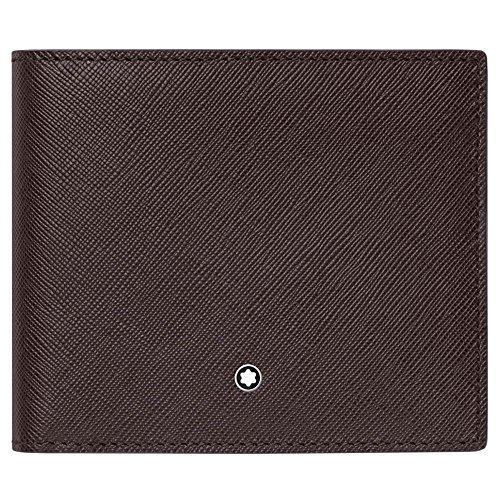 113212 Montblanc Emblem Sartorial Leather 8cc Logo 113212 Brown Wallet Montblanc Sartorial PPT7rq1x