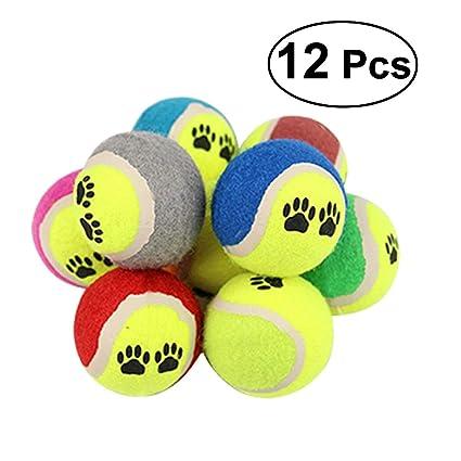 Skudy Pelota de Tenis 12 6,6 cm, para Perros, Resistente a ...