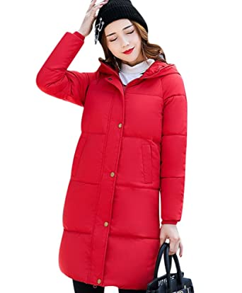 Amazon.com: Mojessy Women's Parka Winter Coat Overcoat Long Down ...