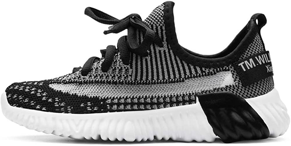 KaMiao Unisex-Kids Knit Sneakers Running Shoes Soft Knit Sock Shoes Easy Walk Casual Sport Shoes for Boys Girls