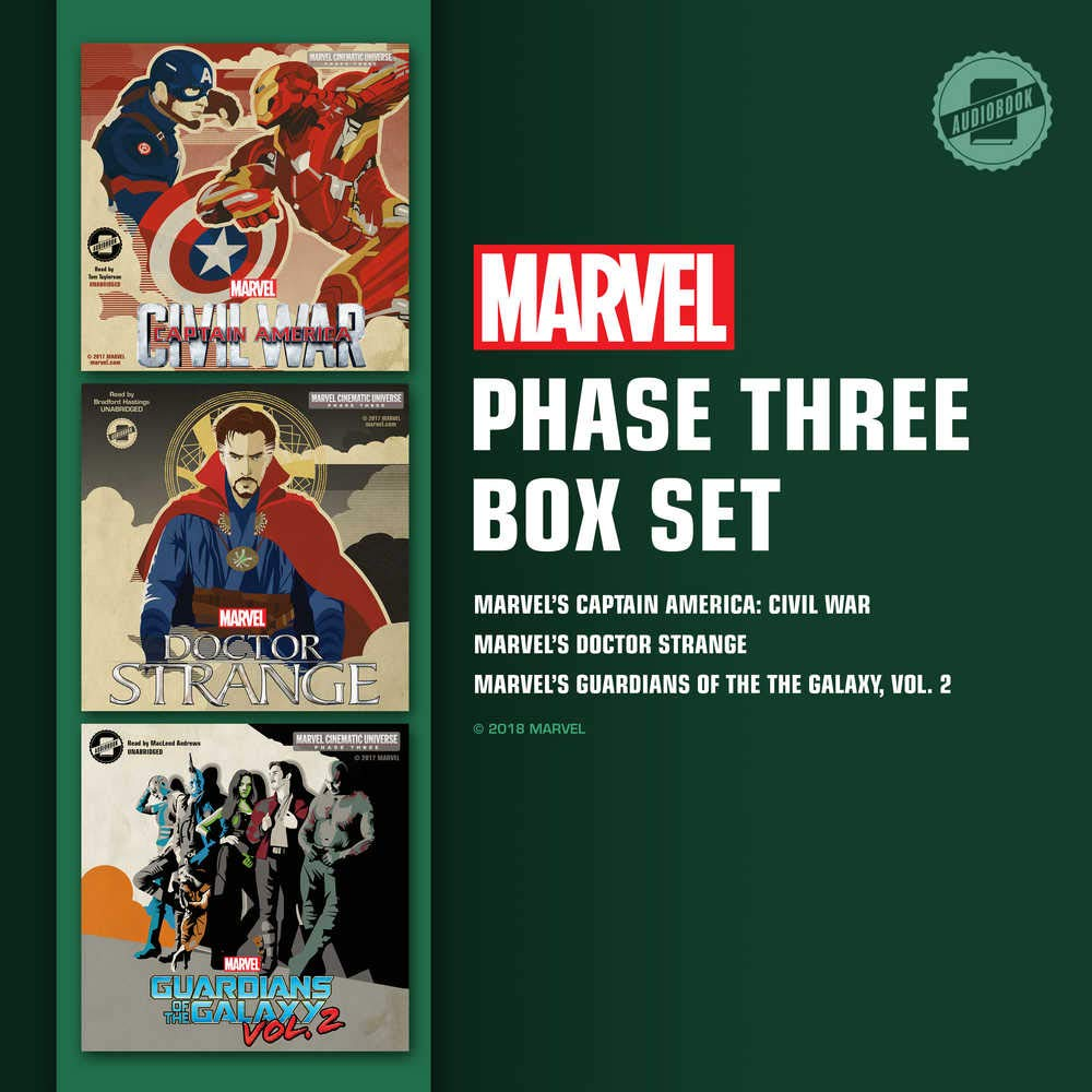 Marvel's Phase Three Box Set: Phase Three: Marvel's Captain America: Civil War; Phase Three: Marvel's Doctor Strange; Phase Three: Marvel's Guardians of the Galaxy, Vol. 2
