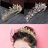 LAYs Bridal Princess Crown Rhinestone Wedding Prom Party Tiara Veil Headband Hair Accessories