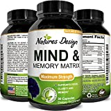 Mind and Memory Enhancement Supplement, Brain booster nootropic pills Improve Focus Concentration Clarity Mental Performance Pure Vitamins Natural Dietary Supplement for Men and Women
