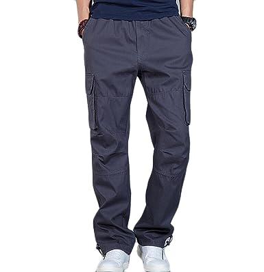 ZXCB Men s Summer Thin Casual Workwear Trouser Loose Multi Pocket Outdoor  Sweatpants Straight Leg Pants Plus 6d70b04b5cd8