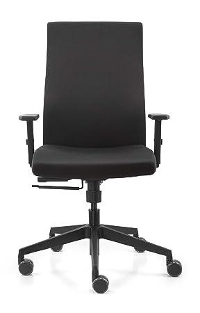 Strike Fauteuil Pivotant Avec Accoudoirs Chaise De Bureau Travail Noir