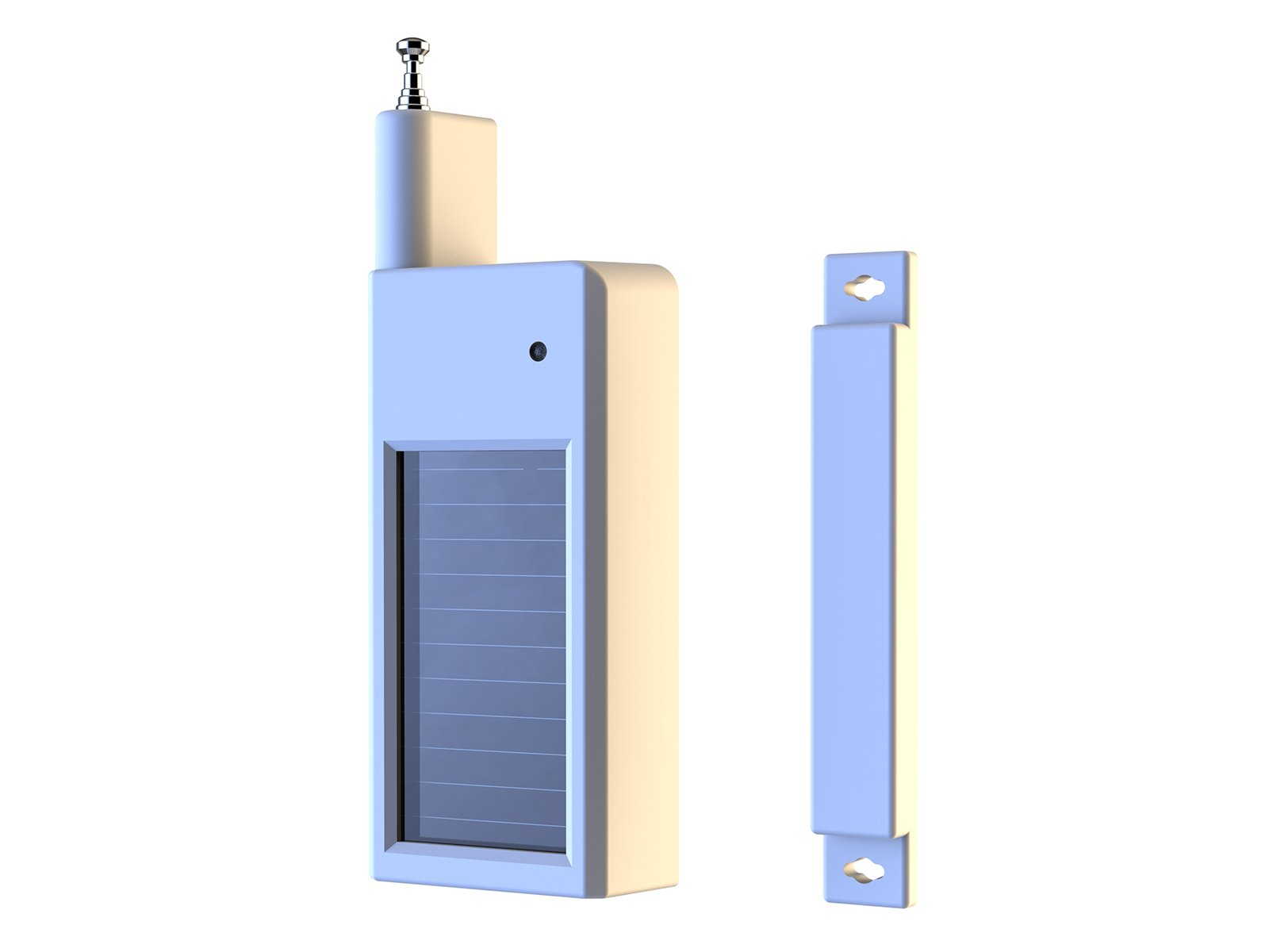 HTZSAFE Solar Wireless Door/Window Magnetic Sensor-5 Years No Need Replace The Battery-1/4 Mile Long Range Transmission Range-Compatible With All HTZSAFE Wireless Alarm