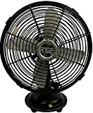 VINTAGE ORIGINAL ANTIQUE RARE COMPACT SIZE IN MINT CONDITION CINNI OSCILLATING INDUSTRIAL DESK TABLE FAN BF 06