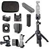 Full Gimbal Accessoriesfor DJI OSMO Pocket, Phone Holder + Tripod + Base for WiFi Module + Wide Angle Lens + case Bag